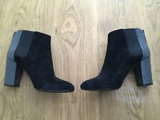LANVIN SUEDE ROUND-TOE ANKLE BOOTS ANKLE BOOTIES Size 38 UK 5 US 8