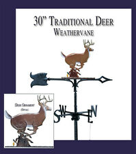 Whitehall Deer Whitetail Buck Stag Color Rooftop Weathervane Ships FREE with Mt
