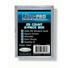 Ultra Pro 25 Card Clear Case 2 Piece - Playing Trading Protector Plastic Holder