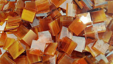 "100 1/2"" Light Amber and White Stained Glass Mosaic Tiles"