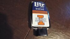 vintage Miller Light Illinois Fighting Illini beer tap handle