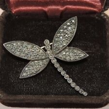 Sterling Silver Marcasite Dragonfly Dragon Fly Butterfly Insect Brooch Pin 5c 30