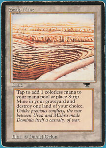 Strip Mine (b Uneven) Antiquities HEAVILY PLD Uncommon CARD (259215) ABUGames