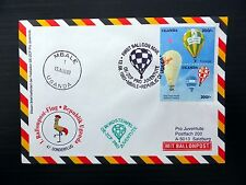 URUGUAY 1993 Balloon Mail Flown to Austria NB230