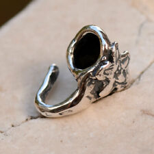 Artisan Sterling Silver Bail adorned with a Flower, FN-355