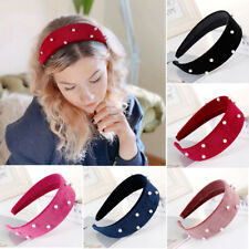 Fashion Women's Wide Pearl Headband Hairband Elegant Hair Hoop Band Accessories