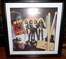 kiss concert items framed 2006 evandale has been displayed