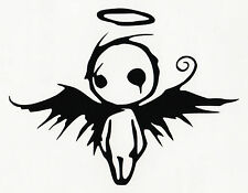 GOTHIC DARK FALLEN ANGEL OF DEATH VINYL DECAL CAR WINDOW BUMPER STICKER BLACK