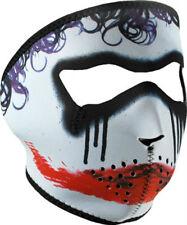 Trickster Sad Scary Clown Neoprene Face Mask Joker Batman Look Biker Ski Costume