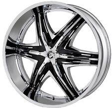 22 inch 22x9.5 DIABLO ELITE G2 Chrome wheel rim 6x4.5 6x114.3 +40