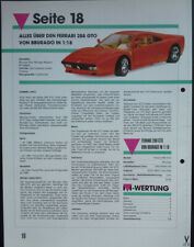 Ferrari 288 GTO in 1-18 by Bburago... a model report #1993#