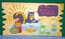 Vintage KOMIK KARD POSTCARD PLAK Comical Post Card - Skunk - Hopeless Stinker