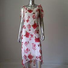 Floral Maxi Dress White Red Floral Dress Prom Dress Column Dress Goddess Dress