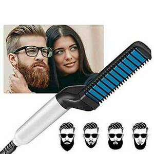Beard Straightener Multifunctional Hair Comb Heated Styler Electric Brush MENS