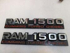 97 Dodge Ram cummins turbo diesel 1500 12v Emblems