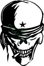 Skull Head Biker vinyl decal/sticker window laptop truck car bike star