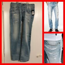 GUESS Men Slim-Straight Vermont Fit Destroyed Jeans Amnesia Wash Size 32/32 NWT