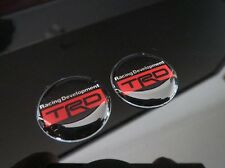 2 x SMALL TOYOTA TRD BADGE DECAL WHEEL BADGE MR2 SUPRA CELICA 86 COROLLA CAMRY