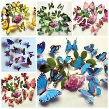 12pc 3D Magnet Schmetterling Wand Aufkleber Art Design Tattoo Wandaufkleber Deko