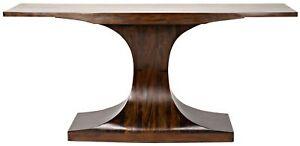 "68"" Long Console Table Solid Mahogany Wood Dark Teak Oil Finish Modern"
