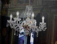 Lampadario in cristallo oro a 8 luci coll. Voltolina Toledo