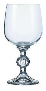 Bohemia Crystal Claudia Red Wine Goblets Glasses 340ml Set of 6  Stemware NEW