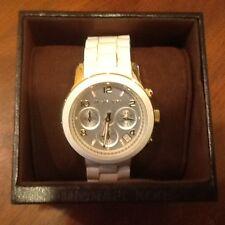 Michael Kors MK5145 Chronograph Women's White Silicone & Gold SS Watch
