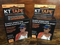 KT Tape 40 Strips Two Rolls Beige Therapeutic Elastic Body Sports Tape Cotton