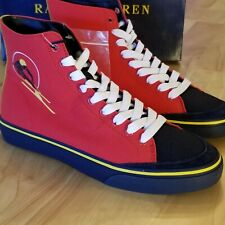 Polo Ralph Lauren Men's Solomon Downhill Ski-Patch Canvas Sneakers • Size 9