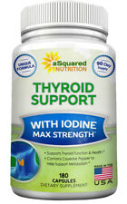 aSquared Nutrition Thyroid Support Supplement with Iodine -180 Capsules