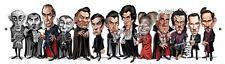 Tom Richmond SIGNED Dracula Mad Art Print LE of 450 Bela Lugosi Christopher Lee