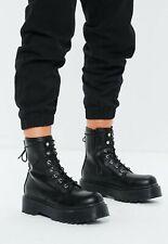 MISSGUIDED Black Platform Sole Boots UK 6 Eur 39 (.1)
