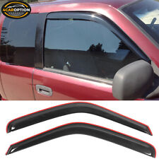 Fits 94-01 Dodge Ram Coupe In Channel Style Acrylic Window Visors 2Pc Set