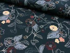 0,50 m Bekleidunsstoff Viskose Elasthan bunt Blätter Bluse Sommer Stoffe
