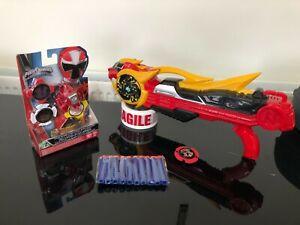 Power Ranger Ninja Steel Deluxe Lion Fire Blaster gun with extras nice toy
