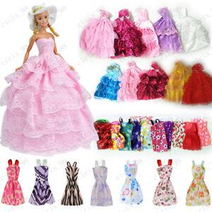 Barbie-Puppe Mode Kleider Hochzeit Party Prom Kleid Casual Sweet Dress Kleidung