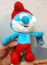 Plush Nanco Papa Smurf, 9 inches tall stuffed doll, new & unused collectible