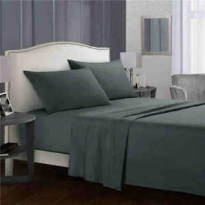 Polyester Bed Fitted Sheet Set flat sheet Pillowcase Twin Full Queen King Size