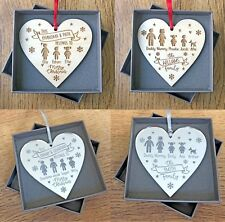 Personalised Family Christmas Decorations Gifts For Daddy Mummy Kids Decorations