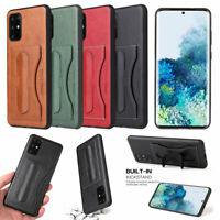 FIERRE SHANN Leather Card Slot Stand Hard Case Cover For Samsung Galaxy Phone