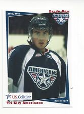 2010-11 Tri-City Americans (WHL) Drydn Dow (Dundee Stars)