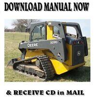 John Deere 329D skid steer loader service repair manual on CD