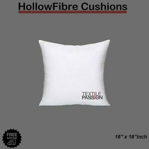 """Cushion Pad Hollow Fibre Plump Cushions Inners Fillers Inserts Pads 16x16"""" New"""