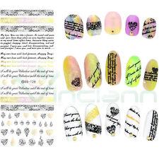 Adesivo sticker Letter lettere nail art decorazioni unghie trasferimento acqua