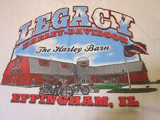 Rare Classic Harley- Davidson Big Harley Barn Illinois Shirt XL