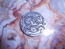 1902 Hobo Nickel Lady Liberty V Steampunk Gears Hand Engraved Psychedelic 5 cent