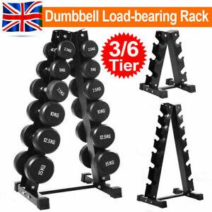 3/6 Tiers Vertical Dumbbells Hex Weight Stand Gym/Home Storage Rack/Tree/Holder