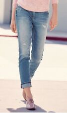 BNWT🌹Next🌹Size 10-12 Long Blue Relaxed Everyday Skinny Jeans Distressed Rips