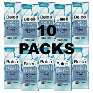 10 Packs X Balea Beauty Effect Lifting Kur Hyaluronic Acid Ampoules FROM GERMANY