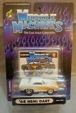 MUSCLE MACHINES '68 HEMI DART 02-103 WHITE FLAMED 1:64